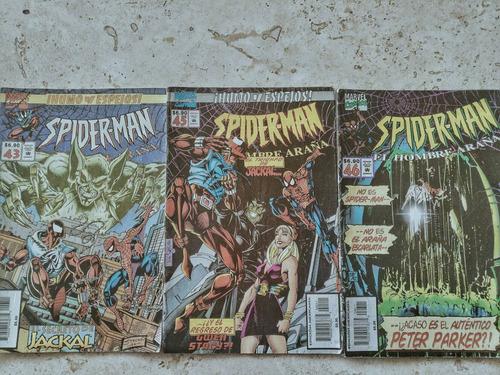 lote de 9 comics super retro de el hombre araña. en español.