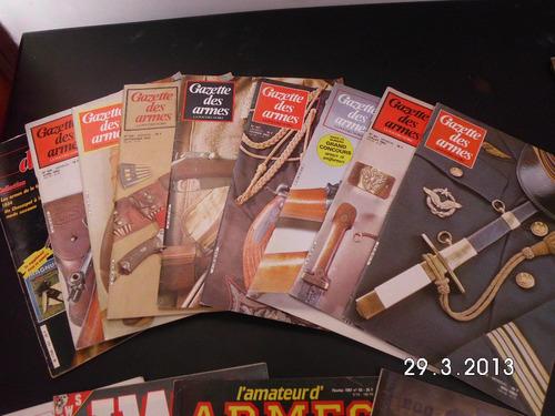 lote de 9 revistas gazzette des armes en francés exc estado
