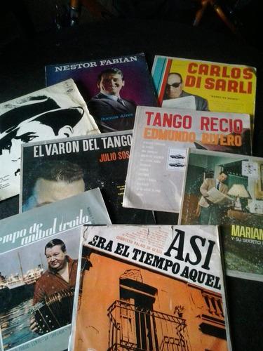 lote de 9 vinilos de tango en regular estado.