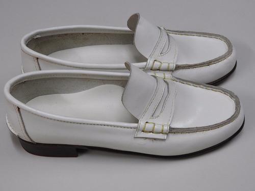 lote de 90 pares de mocasin de hombre blancos zapatos cuero