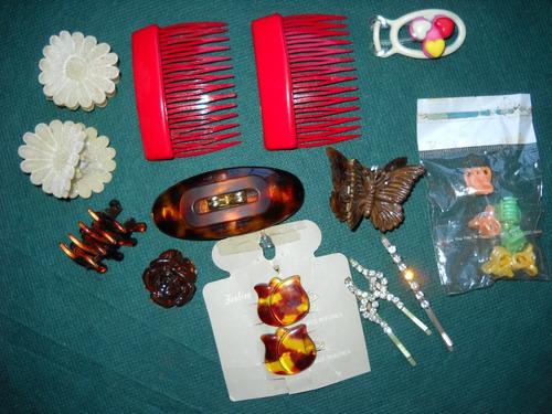 lote de accesorios para el pelo,hebillas,clips,broches,vinch