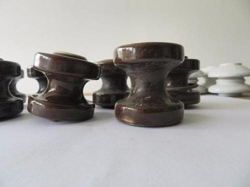 lote de aisladores eléctricos de cerámica
