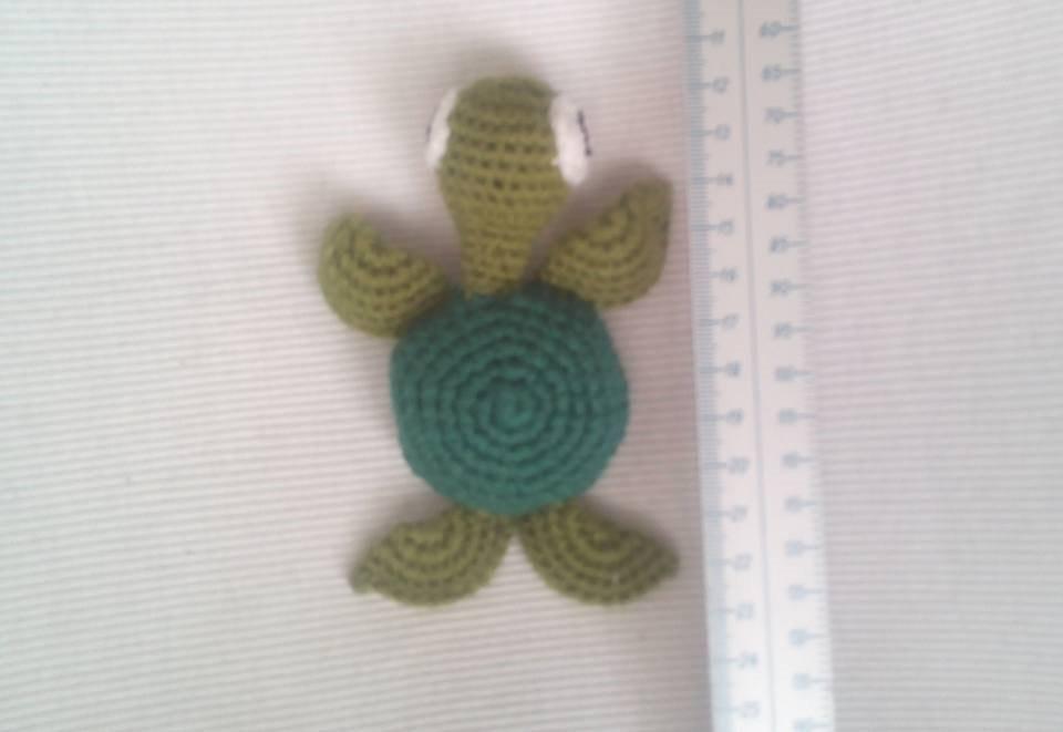 Lote De Amigurumis Llavero Tortuga Tejida Skay Crochet 10 Cm ...