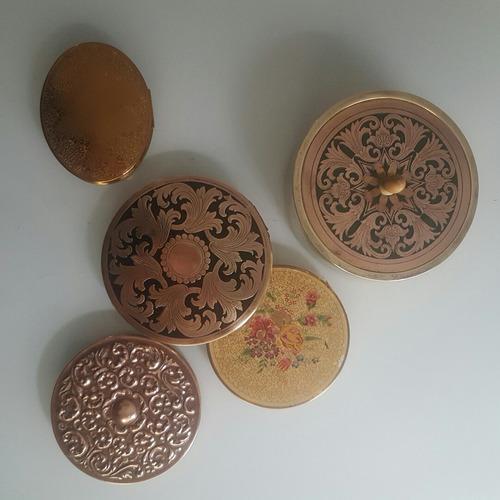 lote de antiguas polveras inglesas de colección divinas!!