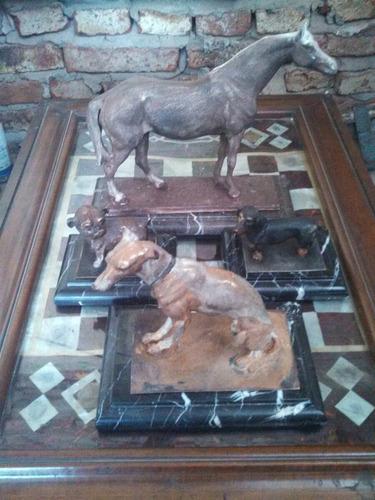 lote de antiguedades esculturas