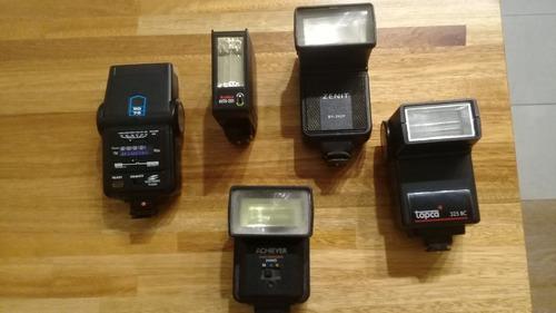 lote de antiguos flash para camara 35mm