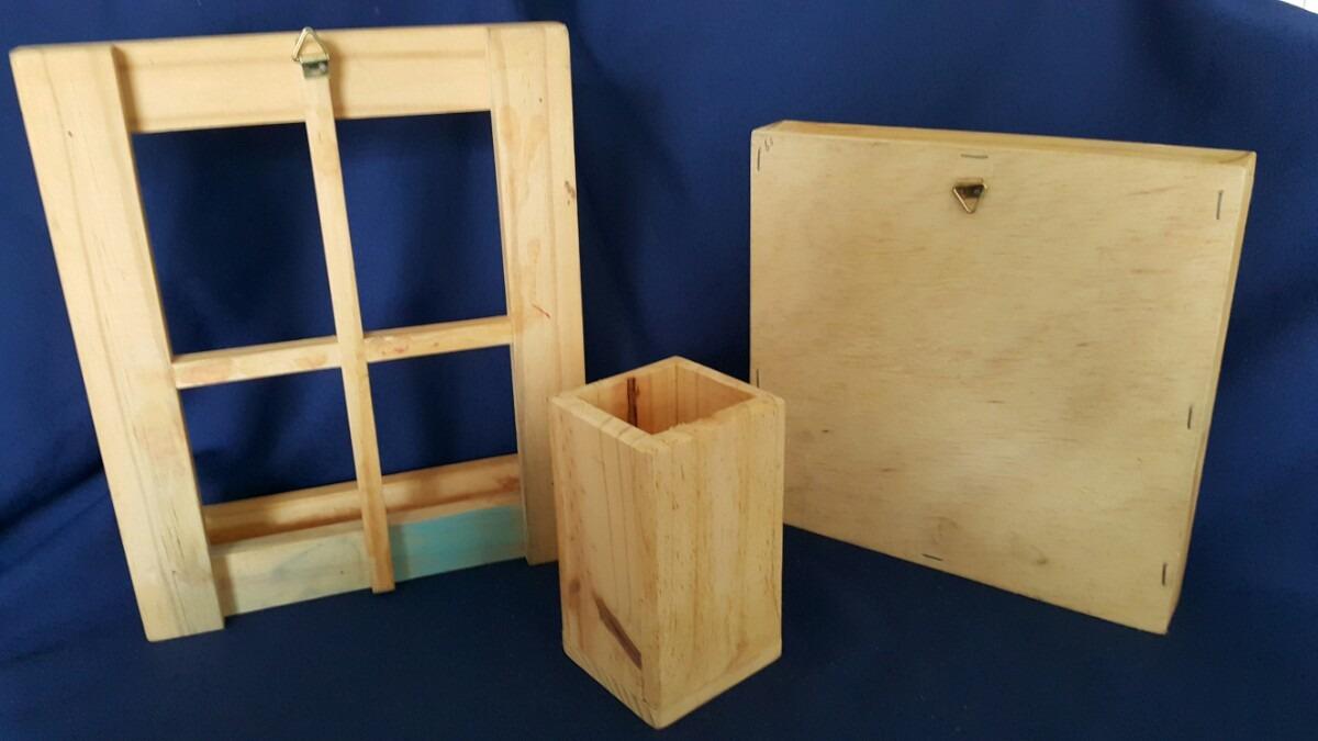 Lote de articulos para manualidades en madera 298 80 - Articulos de madera para manualidades ...