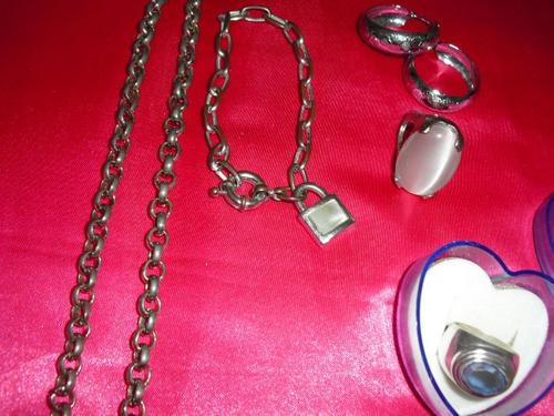 lote de bijuteria 5 peças