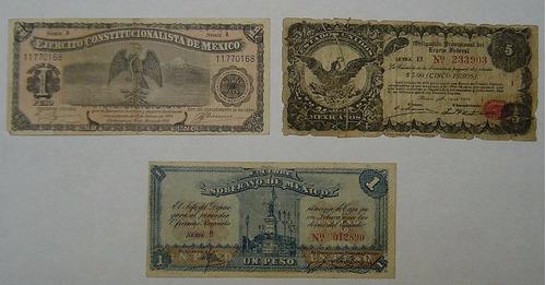 lote de billetes antiguos de méxico, lote 3