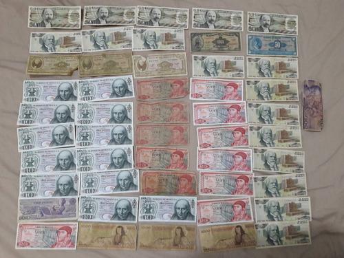 lote de billetes antiguos mexicanos