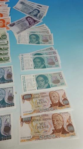 lote de billetes argentinos sin circular