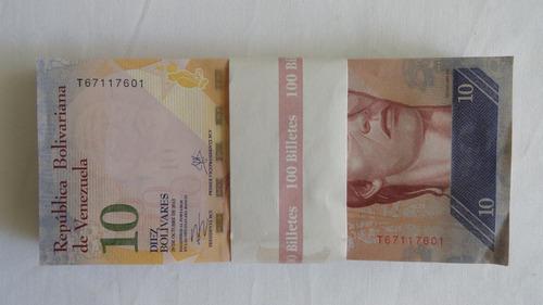 lote de billetes de 10 bs. / año 2013