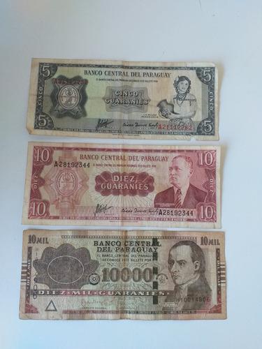 lote de billetes de paraguay