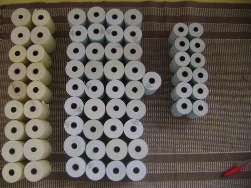 lote de bobinas de papel p/ calculadora de mesa - pct. c/50