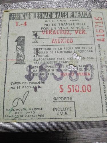 lote de boletos antiguos de ferrocarriles
