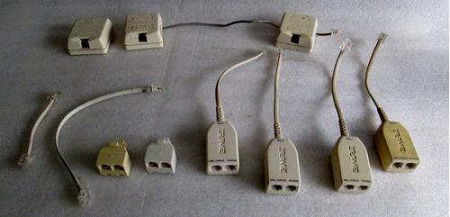 lote de cajas y conexiones telefonia normal segun fotos
