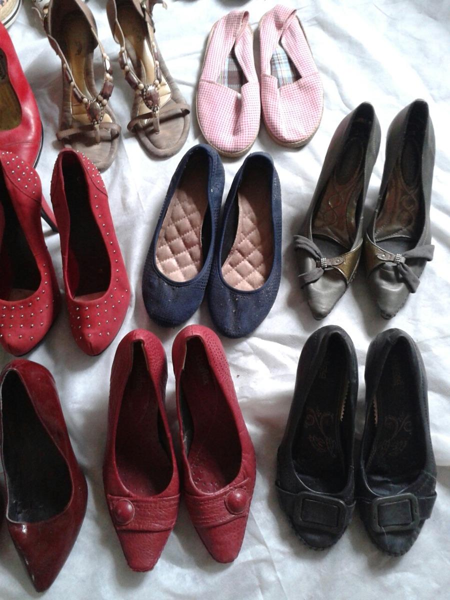 fc383a421 Lote De Calçados Feminino Tm 38 Frete Gratis - R$ 199,99 em Mercado ...
