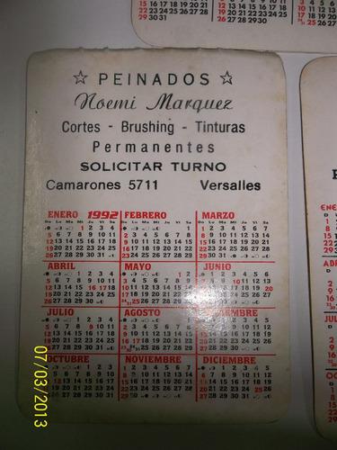 lote de calendarios de bolsillo década del ´80