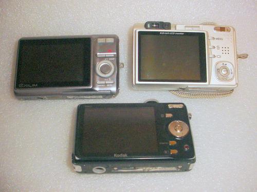 lote de cameras digitatal para conserto ou tirar peças