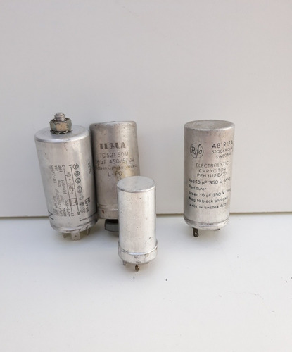 lote de capacitores electroliticos radio/tv antiguos.