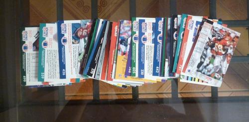 lote de cards no pokemon futbol americano coleccionables