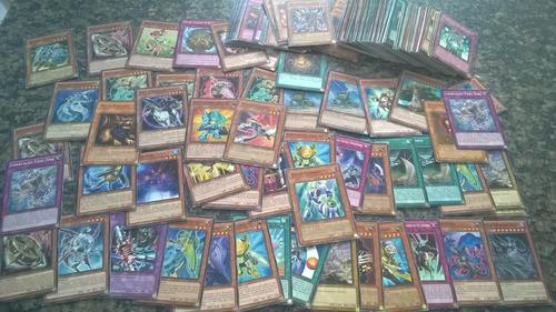 lote de cartas yugioh 100 cartas gx zexal 5ds vem rara super