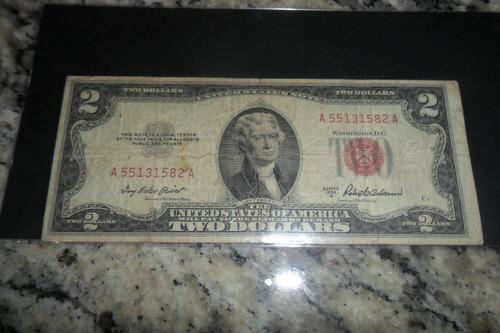 lote de cédulas de dollares, contendo 3 unidades bc.