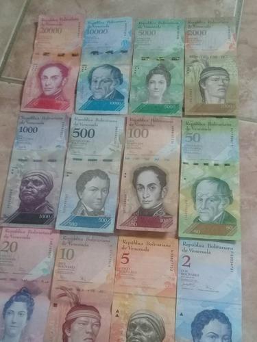 lote de cedulas venezuela50, 100,500,1000,2000,10mil,20mil)