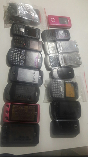 lote de celulares antigos lg
