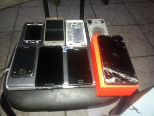 lote de celulares com defeito fácil recuperação