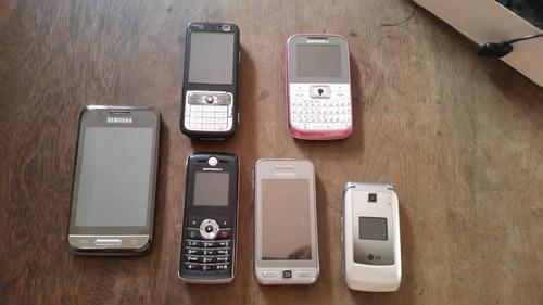 lote de celulares peças marcas diversas