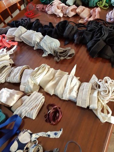 lote de cinturones ,lazos, cordones en tela