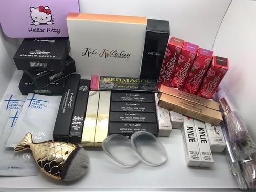 lote de cosmeticos maquillaje 65 piezas mac, kylie, premium