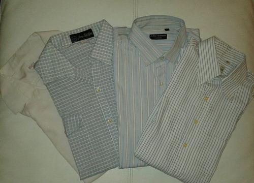 lote de cuatro camisas de hombre talle m manga larga