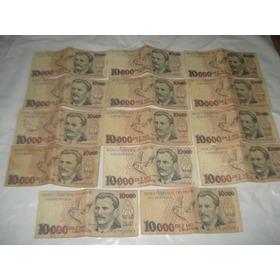 Lote De Dinheiro Antigo: 14 - Cédulas De 10000 Cruzeiros