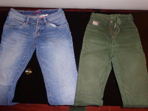 lote de dos 2 jeans niña / dama : elastizados cintura alta