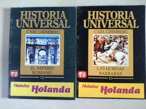 lote de dos revistas  historia universal imperio romano barb