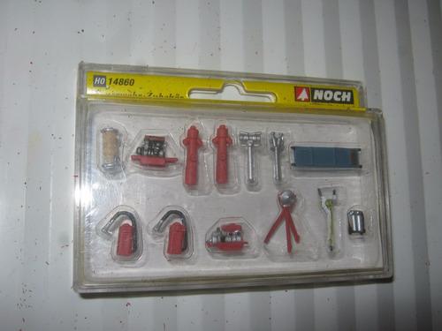 lote de equipo para bomberos noch escala h0