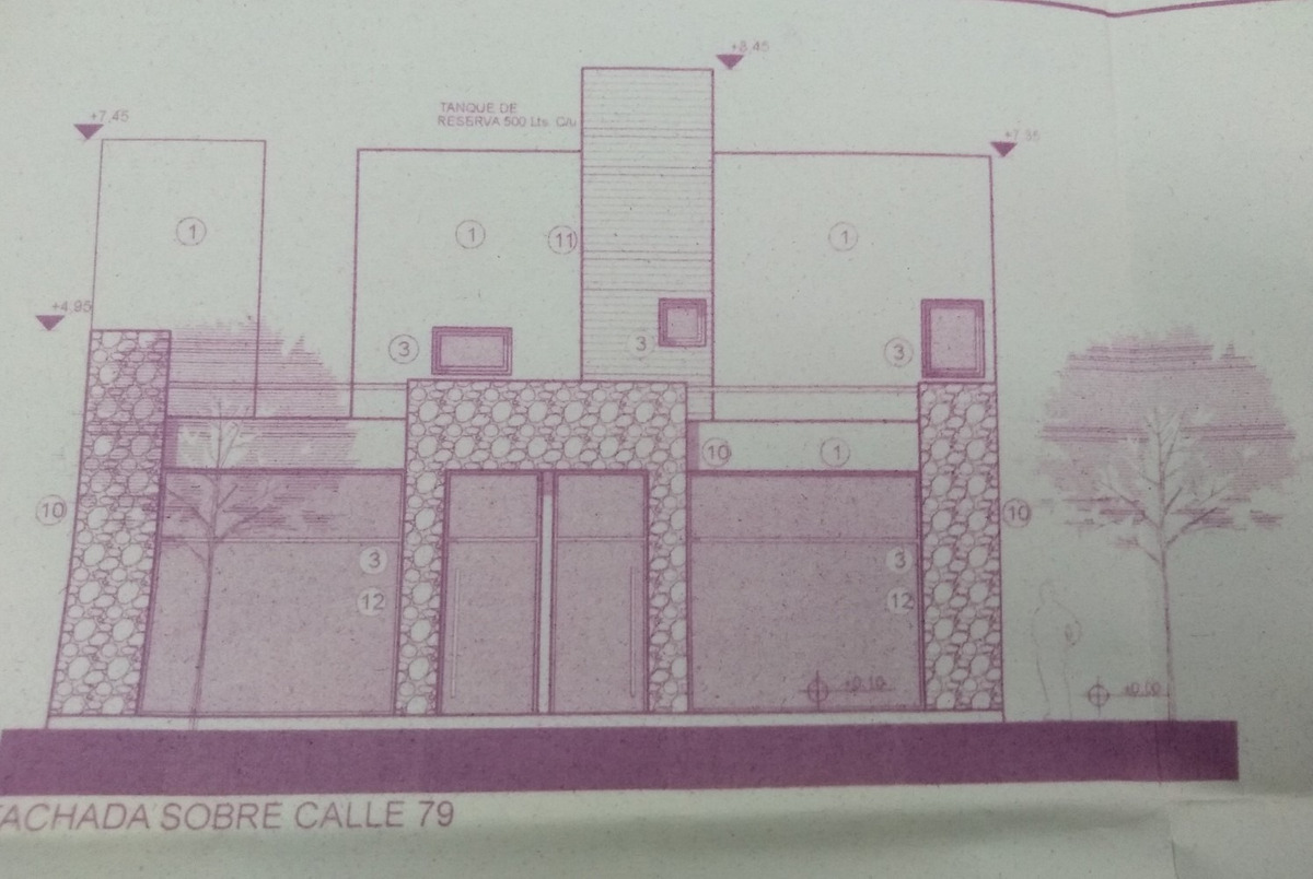 lote de esquina sobre av 79 con planos aprobados
