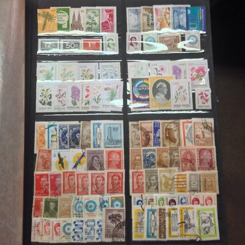 lote de estampillas 100 diferentes argentina x 100 paqts