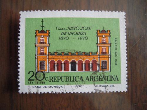 lote de estampillas usadas de argentina año 1970