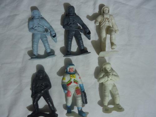 lote de figuras de astronautas de plastimarx y made in mexic