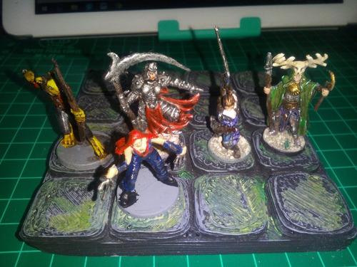lote de figuras para juego de rol calabozos miniaturas