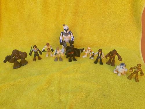 lote de figuras star wars play school 11 figuras