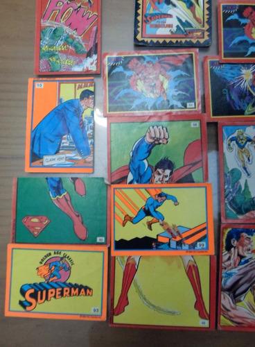 lote de figuritas de superman album de 1994 dc comic inc.