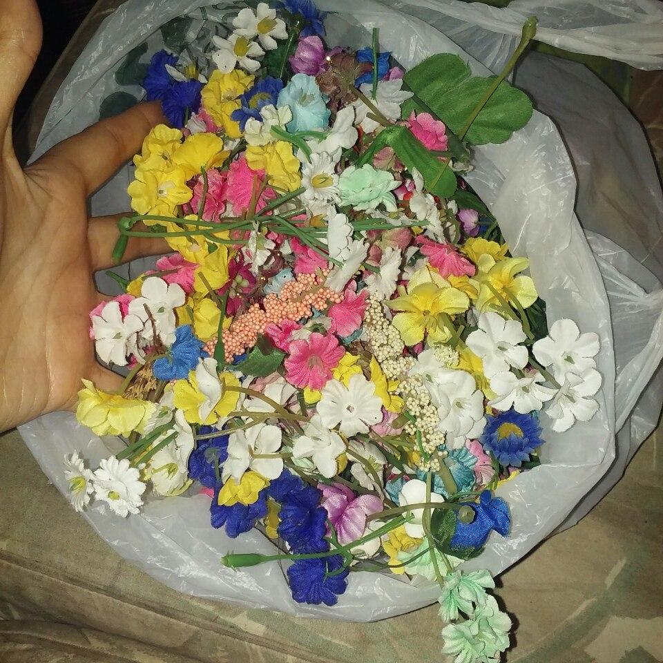 Lote De Flores Artificiales Para Manualidades Bs 100 En Mercado - Manualidades-con-flores-artificiales