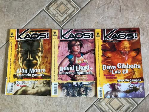 lote de hqs kaos 3 volumes do 1 ao 3 c052