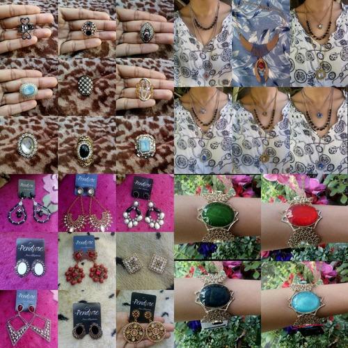 lote de joias 55 bijuteria para revenda atacado para loja