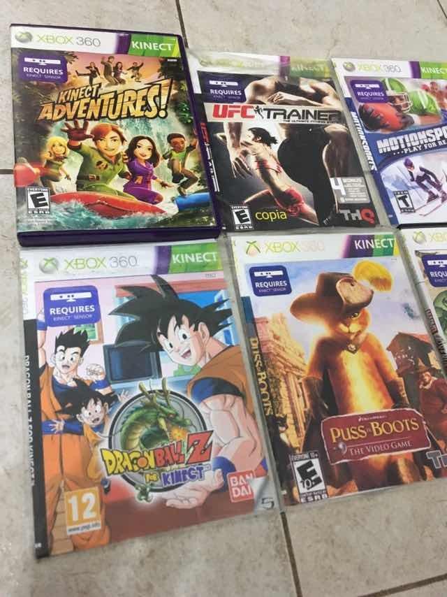 Lote De Juegos Para Kinect Xbox 360 600 00 En Mercado Libre