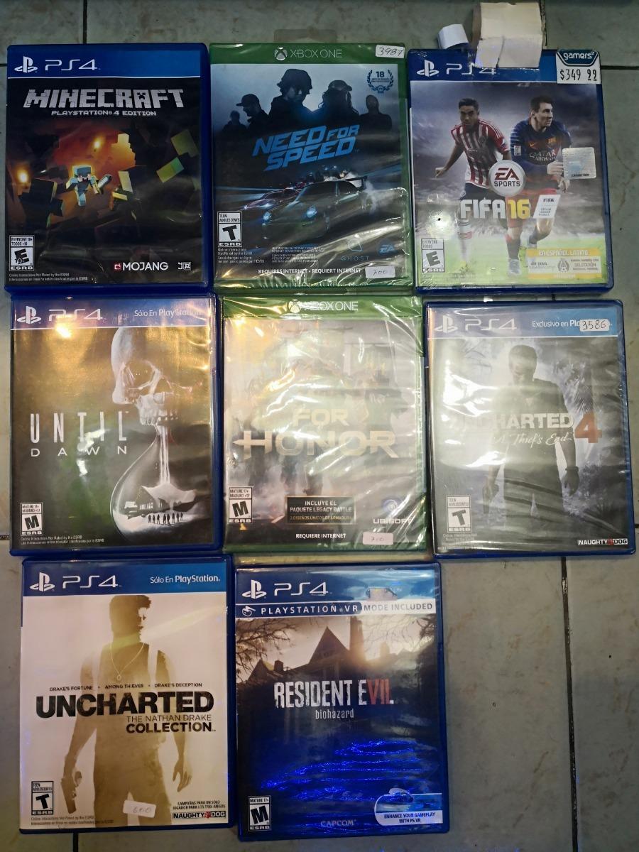 Lote De Juegos Para Ps4 Y Xbox One Nuevos 4 500 00 En Mercado Libre